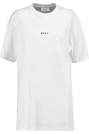 DKNY Printed cotton-jersey T-shirt