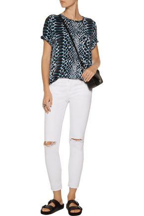 EQUIPMENT Riley printed washed-silk top