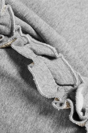 IRIS & INK Pat ruffle-trimmed cotton-jersey sweatshirt
