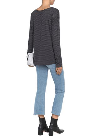 VELVET by GRAHAM & SPENCER Striped linen-blend top