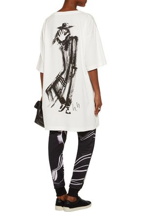 Y-3 + adidas Originals oversized printed cotton-jersey T-shirt