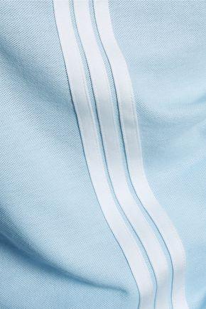 Y-3 + adidas Originals striped modal and cotton-blend piqué top