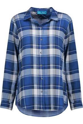 M.I.H JEANS Flight pleated checked flannel shirt