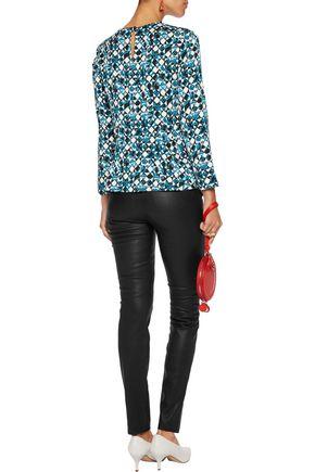 DIANE VON FURSTENBERG Galia printed silk-blend blouse
