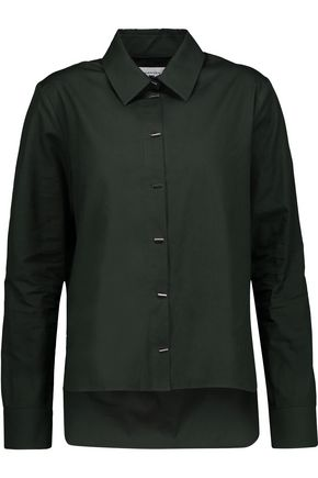 CARVEN Asymmetric cotton-poplin shirt