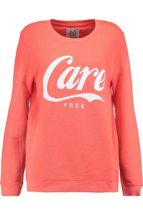 ZOE KARSSEN Printed cotton-blend jersey sweatshirt