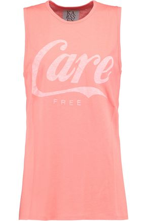 ZOE KARSSEN Printed cotton and modal-blend jersey tank