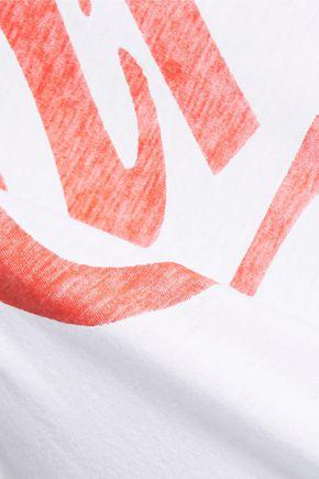 ZOE KARSSEN Printed cotton and modal-blend jersey tank