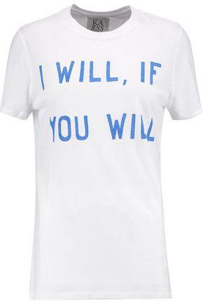 ZOE KARSSEN Printed cotton and modal-blend jersey T-shirt