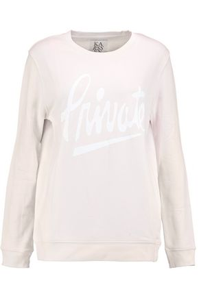 ZOE KARSSEN Oversized printed cotton-blend jersey sweatshirt