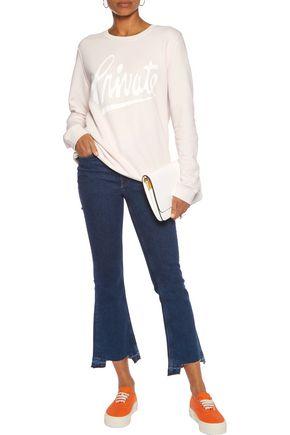 ZOE KARSSEN Oversized printed cotton-blend jersey sweatshirt