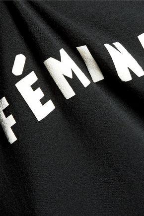KAIN Georgina appliquéd cotton-blend jersey sweatshirt