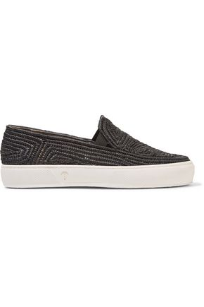 ROBERT CLERGERIE Canvas slip-on sneakers