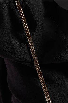 NINA RICCI Embellished silk turtleneck top
