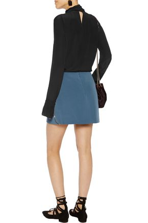 NINA RICCI Embellished silk turtleneck top