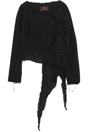 VIVIENNE WESTWOOD ANGLOMANIA Draped checked cotton top