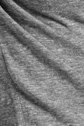 AMO Twist marled jersey turtleneck top