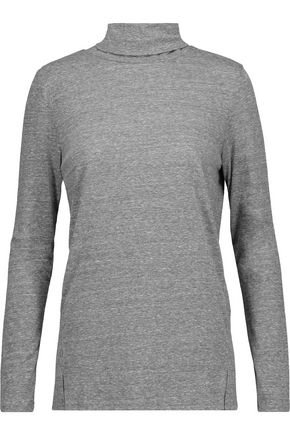 AMO Twist marled jersey turtleneck top