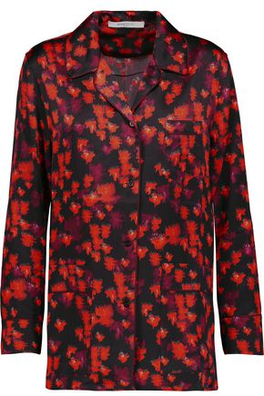 GIVENCHY Printed silk-satin blouse