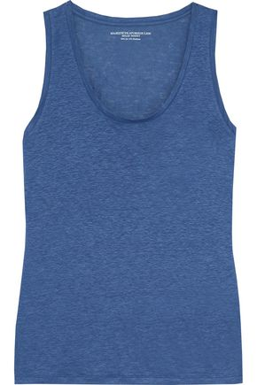 MAJESTIC FILATURES Slub stretch-linen tank