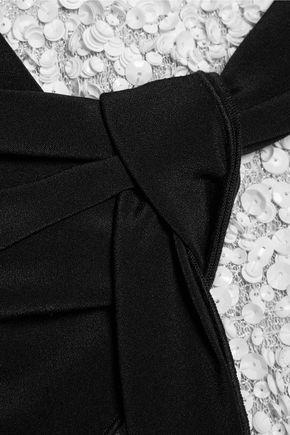 3.1 PHILLIP LIM Silk cady-paneled sequined gauze top