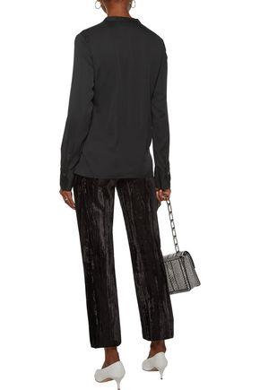 3.1 PHILLIP LIM Asymmetric silk-blend crepe de chine blouse