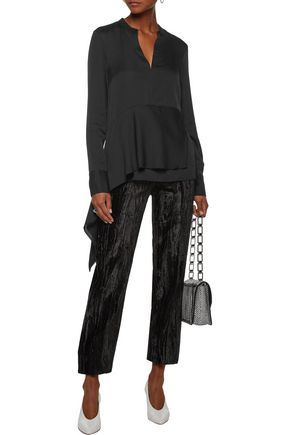 3.1 PHILLIP LIM Asymmetric silk-blend crepe de chine blouse