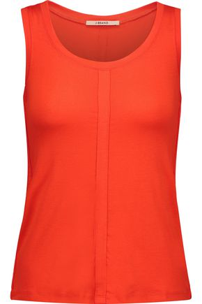 J BRAND Stretch cotton and linen-blend tank
