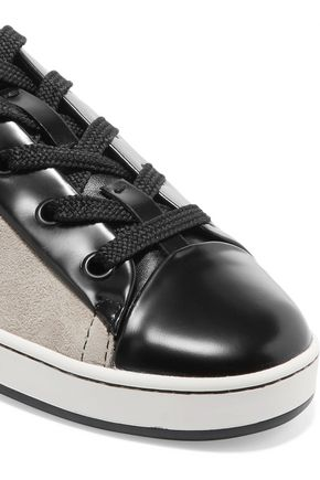 DKNY Brayden rubber-trimmed suede sneakers