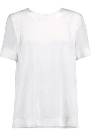 DKNY Silk-blend crepe de chine top