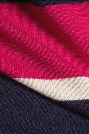 DIANE VON FURSTENBERG Jolanta striped wool and cashmere-blend top
