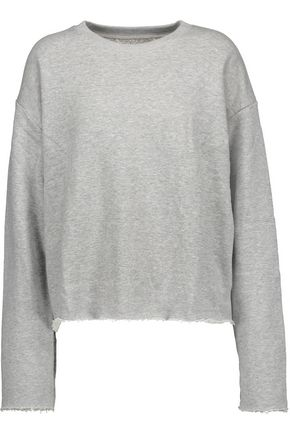 SIMON MILLER Calvin frayed cotton-jersey sweatshirt