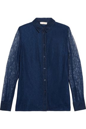 TORY BURCH Jenny corded lace shirt