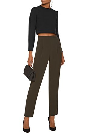 A.L.C. Talia cropped crepe top