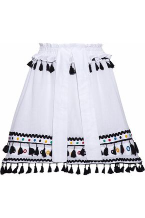 DODO BAR OR Embellished cotton-gauze skirt