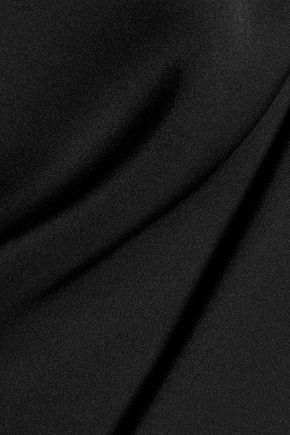 THEORY Bendava cold-shoulder silk top