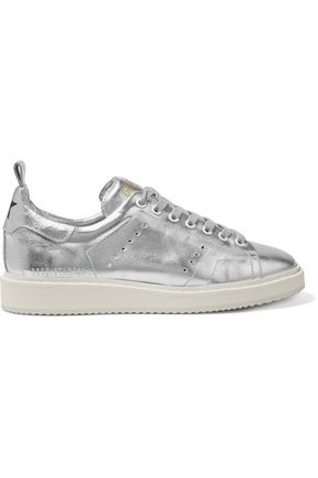 GOLDEN GOOSE DELUXE BRAND Metallic leather sneakers