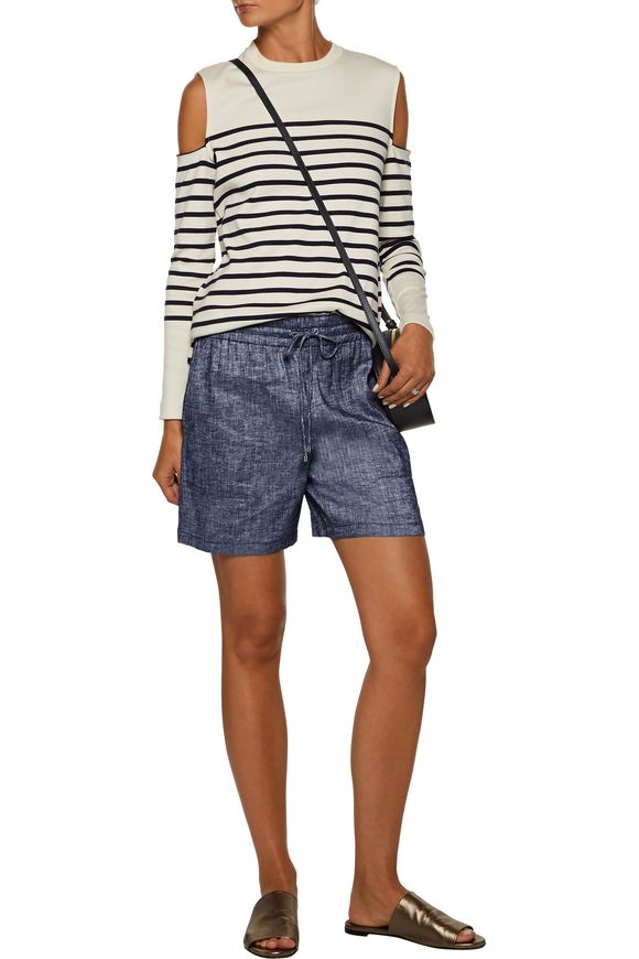 Cortlandt linen-blend chambray shorts | THEORY | Sale up to 70% off | THE  OUTNET