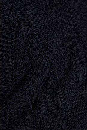 AUTUMN CASHMERE Tasseled crochet-knit cotton top