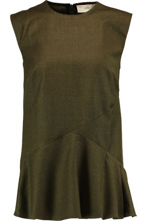 PRINGLE OF SCOTLAND Wool peplum top