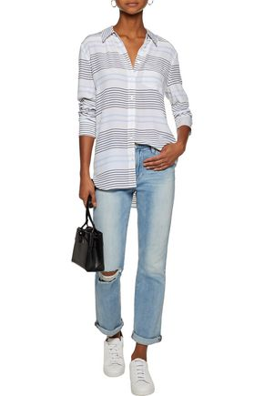 EQUIPMENT Reese striped washed-silk shirt