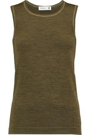 PRINGLE OF SCOTLAND Slub merino wool tank
