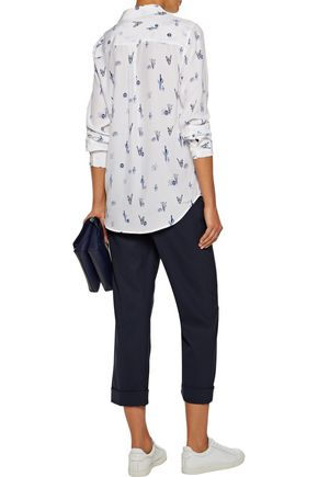 EQUIPMENT Slim Signature printed washed-silk shirt