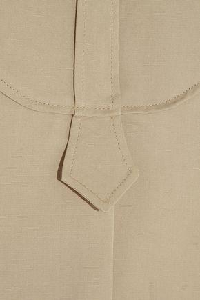 ATLANTIQUE ASCOLI Smoking slub cotton and linen-blend top
