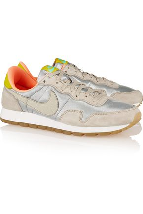 NIKE Air Pegasus 83 suede, leather and mesh sneakers
