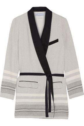 KOZA Cotton-jacquard robe