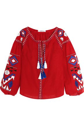 MARCH 11 Kilim embroidered linen blouse