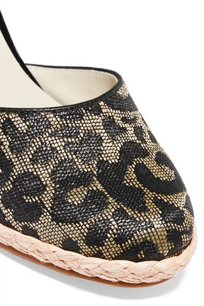 SOPHIA WEBSTER Carla leopard-print jacquard wedge espadrilles