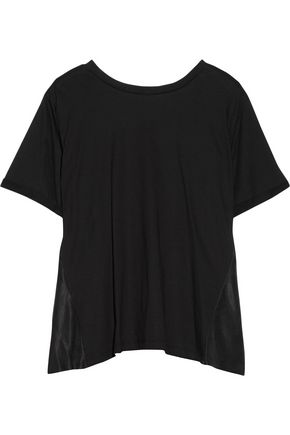 MM6 MAISON MARGIELA Open-back cotton-jersey and washed-satin top