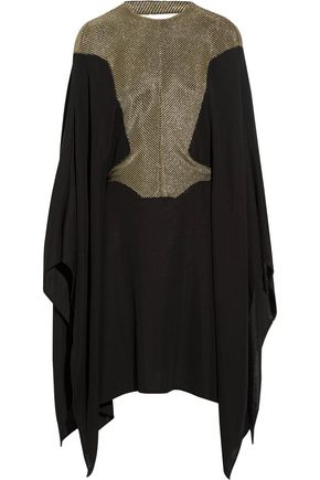 ESTEBAN CORTAZAR Metallic stretch-knit poncho